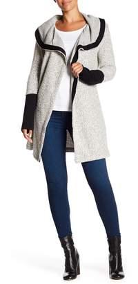Blanc Noir Tweed Shawl Collar Cardigan