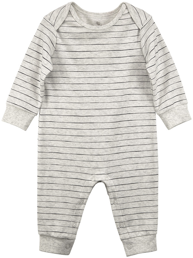Oatmeal Stripe Organic Cotton Playsuit - Infant