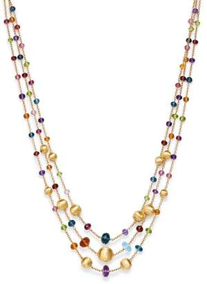 """Marco Bicego 18K Yellow Gold Africa Color Multi Gemstone Three-Strand Necklace, 16"""" - 100% Exclusive"""