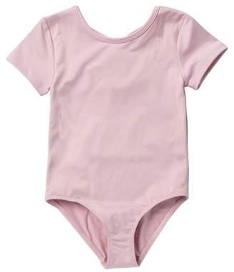 Joe Fresh Twist Back Bodysuit (Toddler & Little Girls)