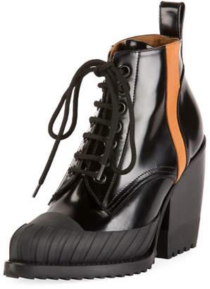 Chloé Rylee Block-Heel Lace-Up Combat Boots