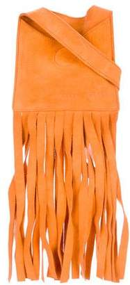Miu Miu Mini Suede Fringe Shoulder Bag