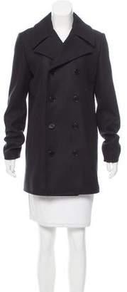 Saint Laurent Double-Breasted Wool Coat