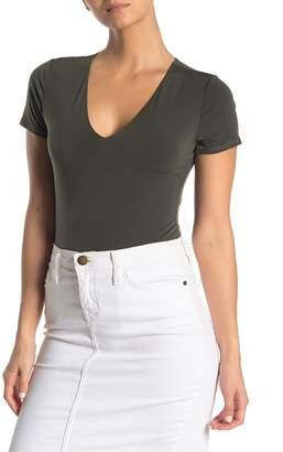 Free Press V-Neck Short Sleeve Bodysuit