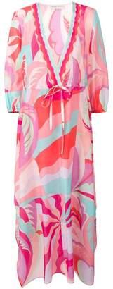 Emilio Pucci abstract print beach dress