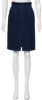 Krizia Denim Knee-Length Skirt