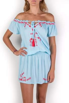 Buddha Sayulita Isa Embroidered Dress