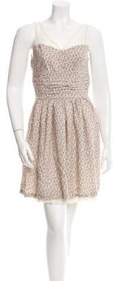 Sandro Mesh Accented Sleeveless Dress $75 thestylecure.com