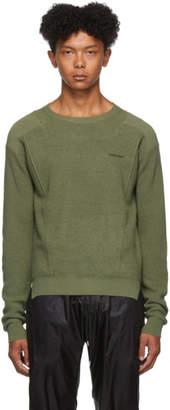 Ambush Green Waffle Knit Sweater