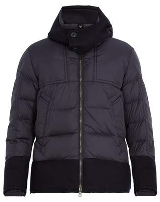 Moncler - Dominique Contrast Trim Quilted Down Jacket - Mens - Navy
