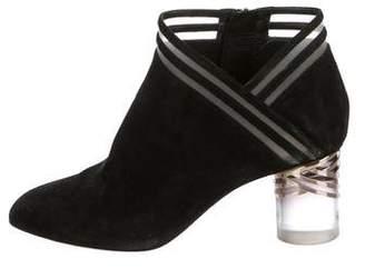 Nicholas Kirkwood Suede Square-Toe Ankle Boots