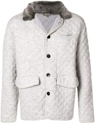 N.Peal quilted cashmere jacket