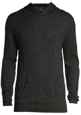John Varvatos Wool Houndstooth Pullover