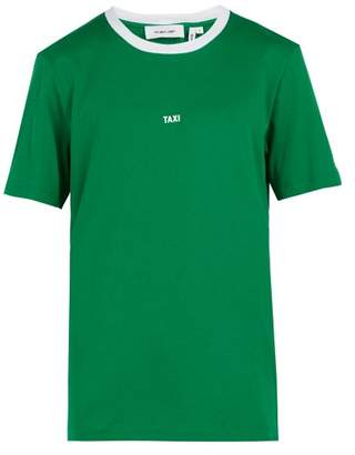 Helmut Lang - Taxi Print Cotton Jersey T Shirt - Mens - Green White