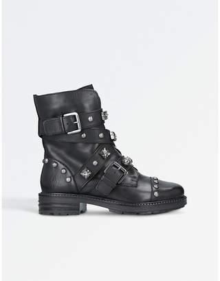 Carvela Sander leather stud embellished boots
