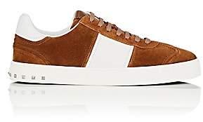 Valentino Men's Flycrew Suede & Leather Sneakers-Beige, Tan