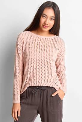 BB Dakota Pointelle Chenille Knit Pullover