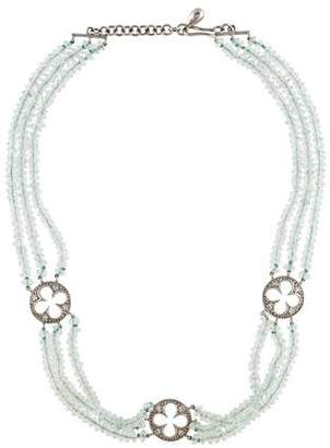 Cathy Waterman Platinum Aquamarine & Diamond Choker