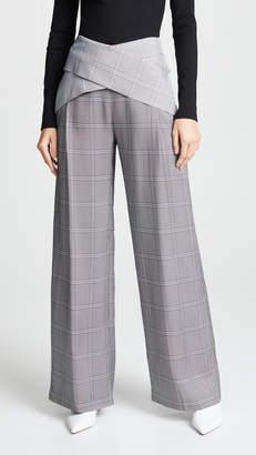 Dion Lee Wide Leg Check Pants