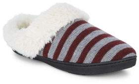 Isotoner Stripe Knit Slippers