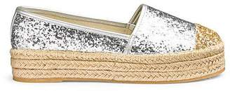 94d7253e1 Romy Glitter Flatform Espadrille Extra Wide EEE Fit