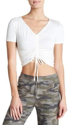 Blvd Short Sleeve Drawstring Top