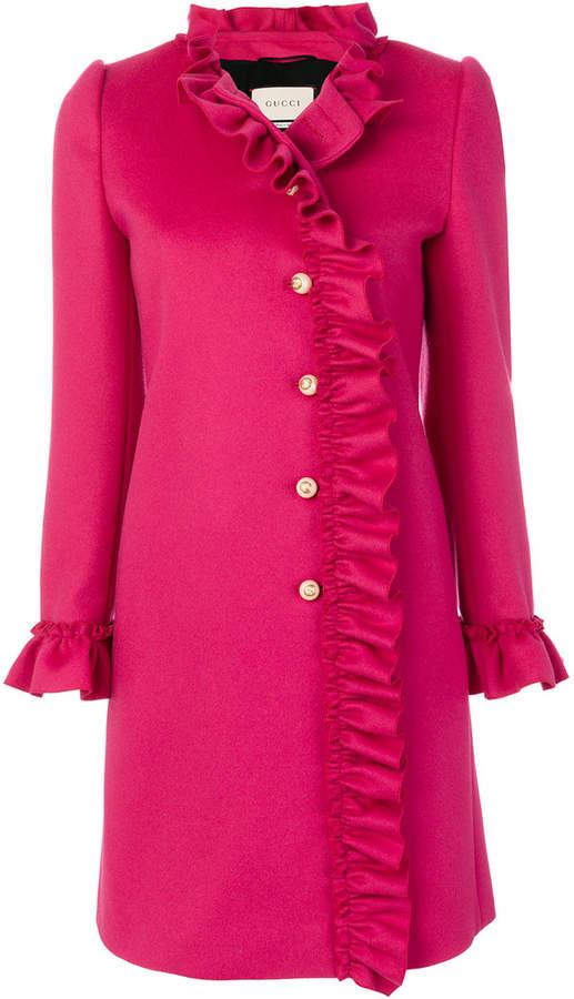 Gucci ruffle-trimmed coat