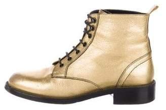 Saint Laurent Patti Lace-Up Booties