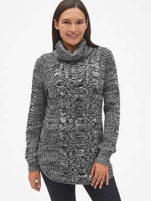 Gap Maternity Cable-Knit Turtleneck Pullover Sweater