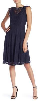 Gabby Skye Flutter Sleeve Midi Dress