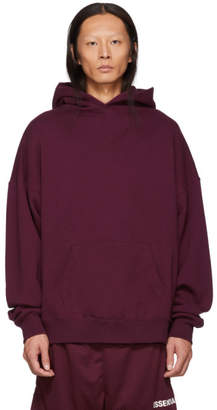 Essentials Burgundy Pullover Hoodie