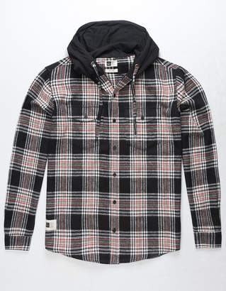 LIRA Hobbs Mens Hooded Flannel Shirt