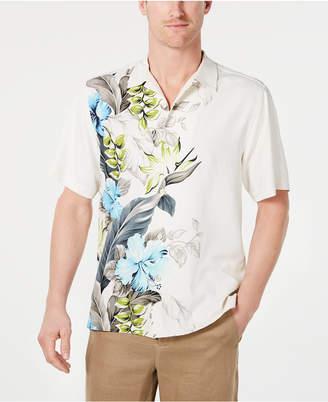 Tommy Bahama Men Big & Tall Garden of Hope & Courage Silk Hawaiian Shirt