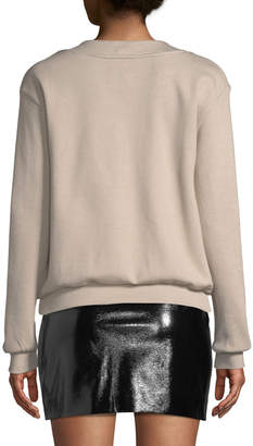 J.o.a. Lace-Up Front Sweater