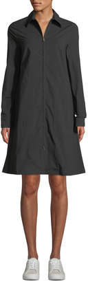 Tomas Maier Double-Zip Collared A-Line Dress