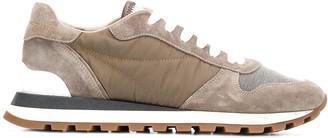 Brunello Cucinelli colour block low top sneakers