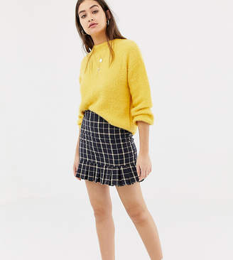 Daisy Street tailored skirt in vintage check