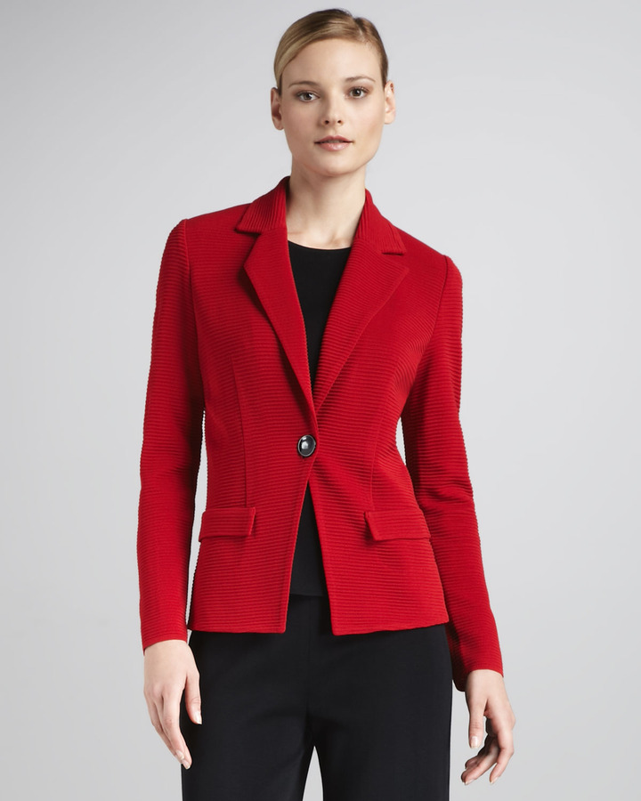 Misook Collection Ribbed Blazer