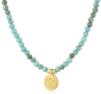 Satya Jewelry Classics Turquoise Mini Lotus Strand Necklace