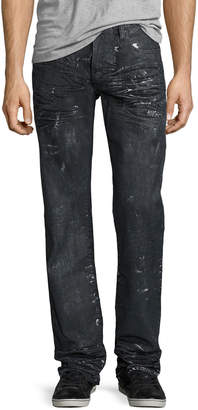 PRPS Barracuda Proton Splatter Denim Jeans, Black