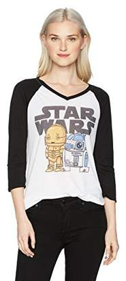 Star Wars Junior's Women's Fashion Ranglan Top
