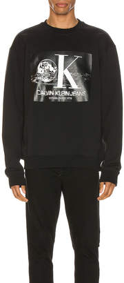 Calvin Klein Est. 1978 Graphic Crewneck Sweatshirt in Black Beauty | FWRD