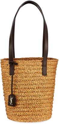 Saint Laurent Woven Raffia Tote Bag