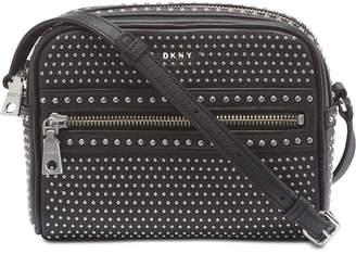DKNY Faye Leather Top Zip Stud Camera Bag