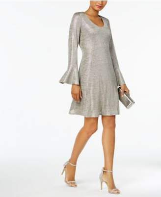 Connected Bell-Sleeve Metallic Shift Dress, Regular & Petite Sizes, a Macy's Exclusive Style
