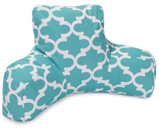 Majestic Home Goods Indoor Outdoor Teal Trellis Reading Pillow with Arms Backrest Back Support for Sitting 33 in L x 6 in W x 18 in H