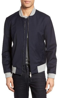 Men's Eleventy Water Resistant Wool Bomber Jacket $995 thestylecure.com