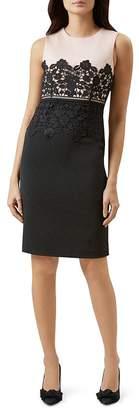 Hobbs London Seraphina Lace-Trim Sheath Dress