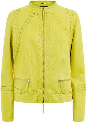 Roberto Cavalli Woven Leather Jacket