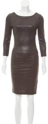 Alice + Olivia Metallic Knee-Length Dress